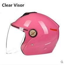 2017 novos capacetes casco do capacete da motocicleta motocross capacete 3/4 cara aberta retro vintage scooter capacetes M L XL