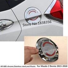 Para Honda FIT JAZZ 2014 2015 2016 cuerpo de coche Gas/combustible/aceite tapa protectora de tanque pegatina con estilo ABS Chromeauto Partes 1 Uds
