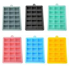 Силиконовые 15 сеток льда Куб формы производитель квадратной формы DIY лоток льда желе плесень