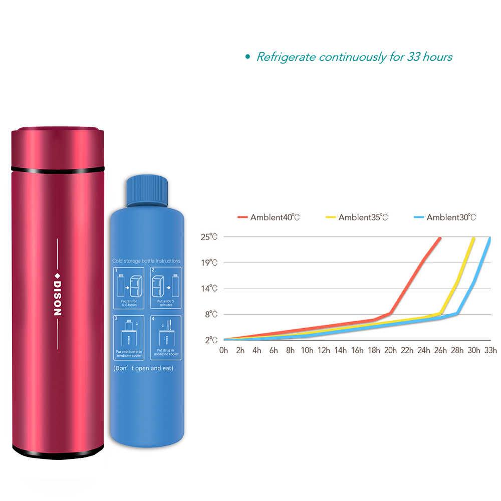 Dison Insulin Mát Túi Du Lịch Bình Insulin Di Động Tủ Lạnh Mini Insulin Bút Mát Hộp Tiểu Đường Túi