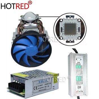 DIY 100 Вт COB 365nm 385nm 395nm 410nm УФ-система отверждения ультрафиолетовый Мощный COB LED + Драйвер + радиатор + кулер + Отражатель объектива