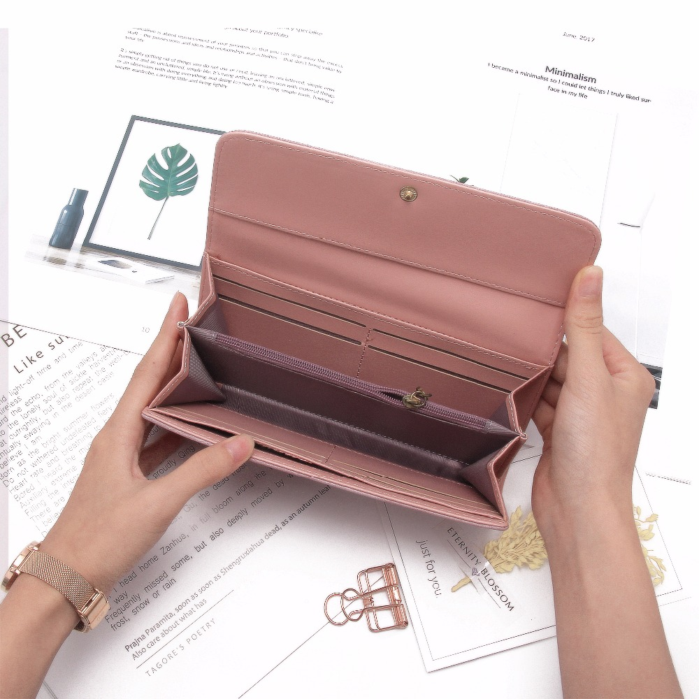 Daenerys Womens Wallets And Purses Long Leather Hasp Ladies Wallet With  Animals Deer Credit Card Holder Zipper Clutch For Girls-in Wallets from  Luggage ...