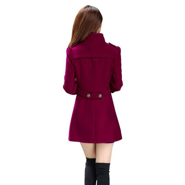2017 Female Sweet Stand Collar Women's Down Jacket Women Clothing Winter Coat Women Solid Long Sleeve Coat 1