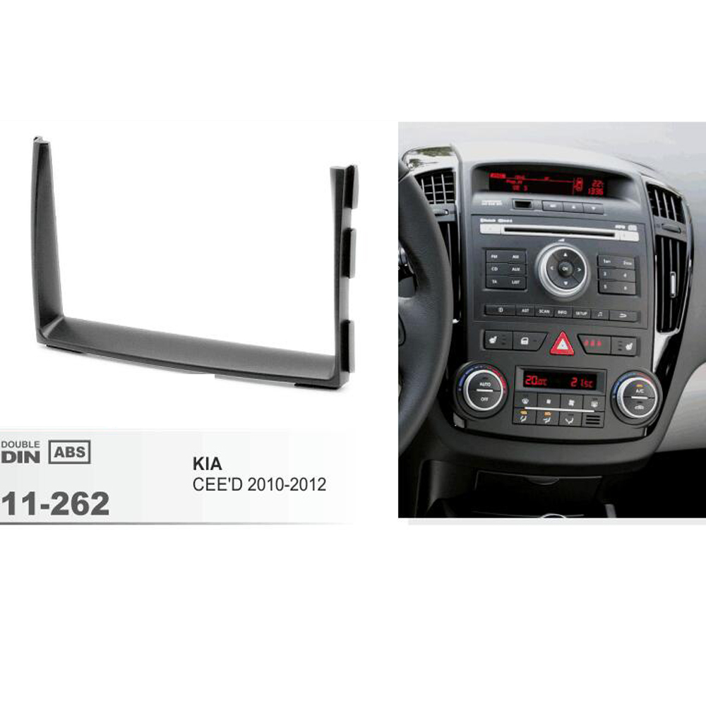 173*98mm Car Radio Fascia for KIA Ceed 2010 2011 2012 2 DIN Dash Mount Kit Adapter Trim Facia Surrounded Frame Dashboard Panel