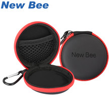 New Bee Fashion Portable Earphones Case Bluetooth Earbuds Bag High Quality PU Headset Box for Apple Airpods Headphones(China)