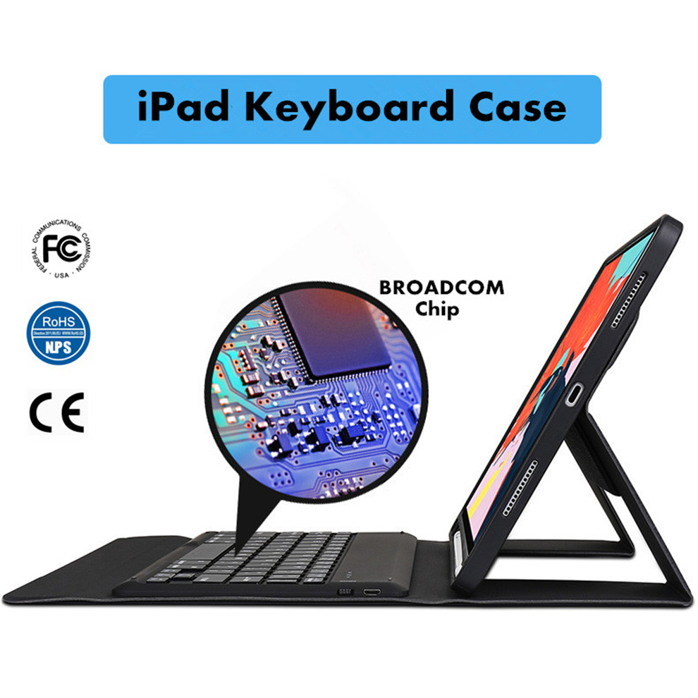 New Bluetooth Keyboard Case Filp Cover For Apple iPad 5th 6th Air 9.7 2013 2014 Pro 10.5 11.0 12.9 2016 2017 2018 FCC RoHS CE