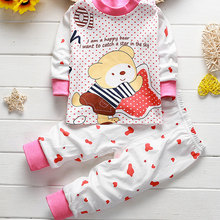 Купить с кэшбэком 1Pcs Soft Cotton Autumn Winter Underwear Newborn Soft Comfortabl Baby Sleep Wear Clothing Set Children Cartoon Pajamas Suit