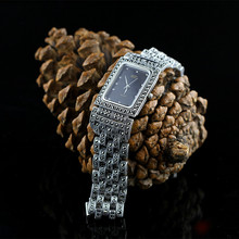 HF Brand Top Quality Limited Classic Men's Real Silver Quartz Watch S925 Silver Bracelet Watch Pure Silver Bracelet Watches