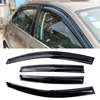 4pcs Windows Vent Visors Rain Guard Dark Sun Shield Deflectors For VW Sagitar 2014
