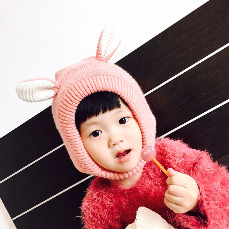 Active New Autumn Winter Unisex Kids Baby Girls & Boys Knitted Hat With Fleece Cute Dog Hat Baby Bonnet Photo Props Keep Warm