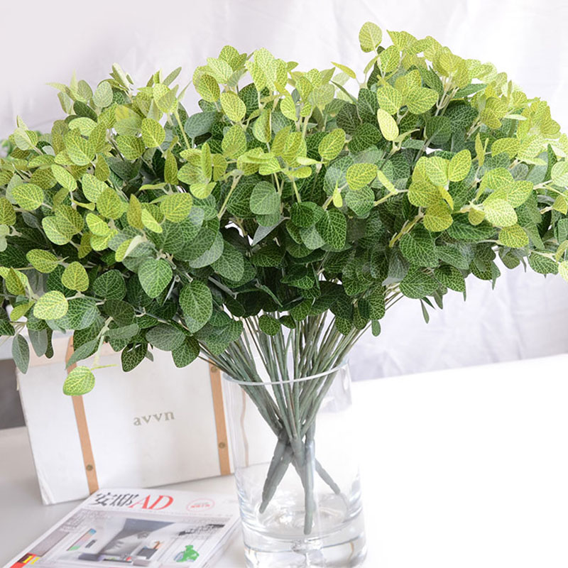 Small leaf green fake money grass plants floral decor for Decorative plants for garden