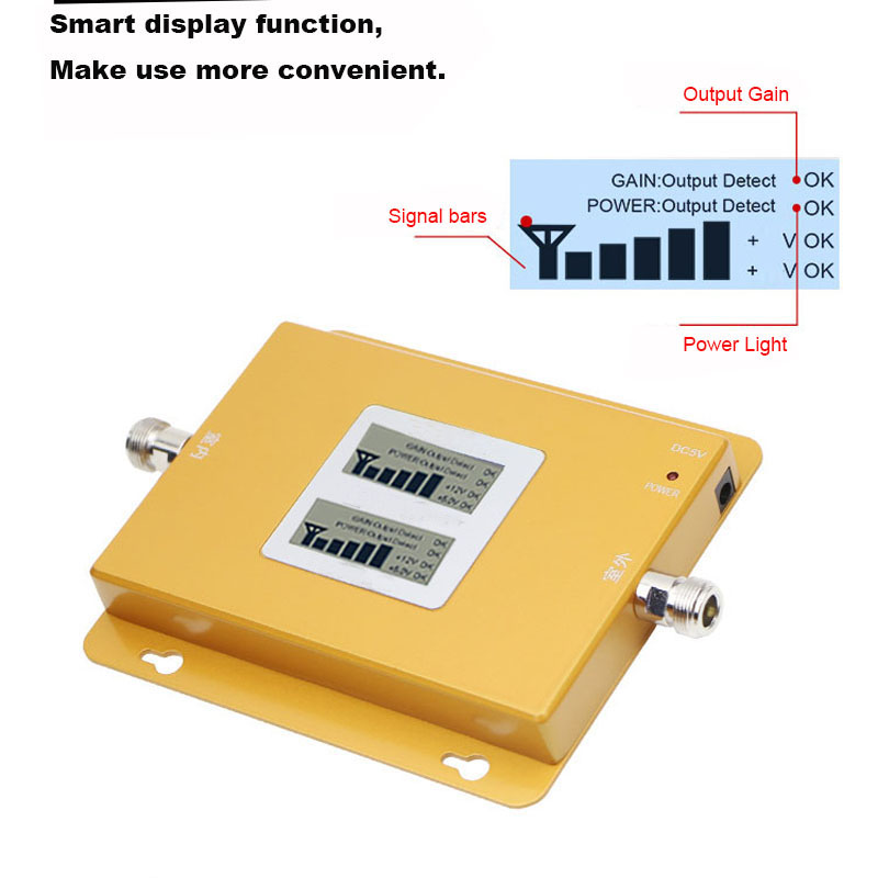 LCD 2G 3G gsm repeater 900 2100 dual band signal booster mobile network solution gsm wcdma Cellular Signal booster Amplifier (1)