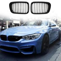 1 Pair ABS Matte Black Car Front Kidney Grille Racing Grills for BMW E46 98 01318i 320i 325i 330i 1998 2001 Auto Accessories