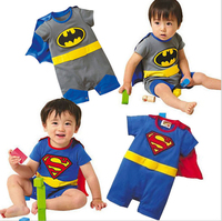 Kids Baby Boy Newborn Toddler Cute Cartoon Infant Superman Batman Wholesale Romper Boys Rompers Clothes Children