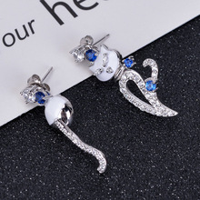 Funmor Lovely Cat Earrings 925 Sterling Silver Ear Jewelry For Women Girls Party Gathering Brincos Drop Earring Accessories Gift