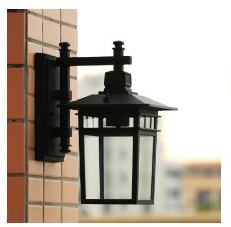 цена на Continental waterproof wall lamp Les Loges Du Park Hotel living room balcony corridor fence aluminum outdoorLU627 ZL458 LU109