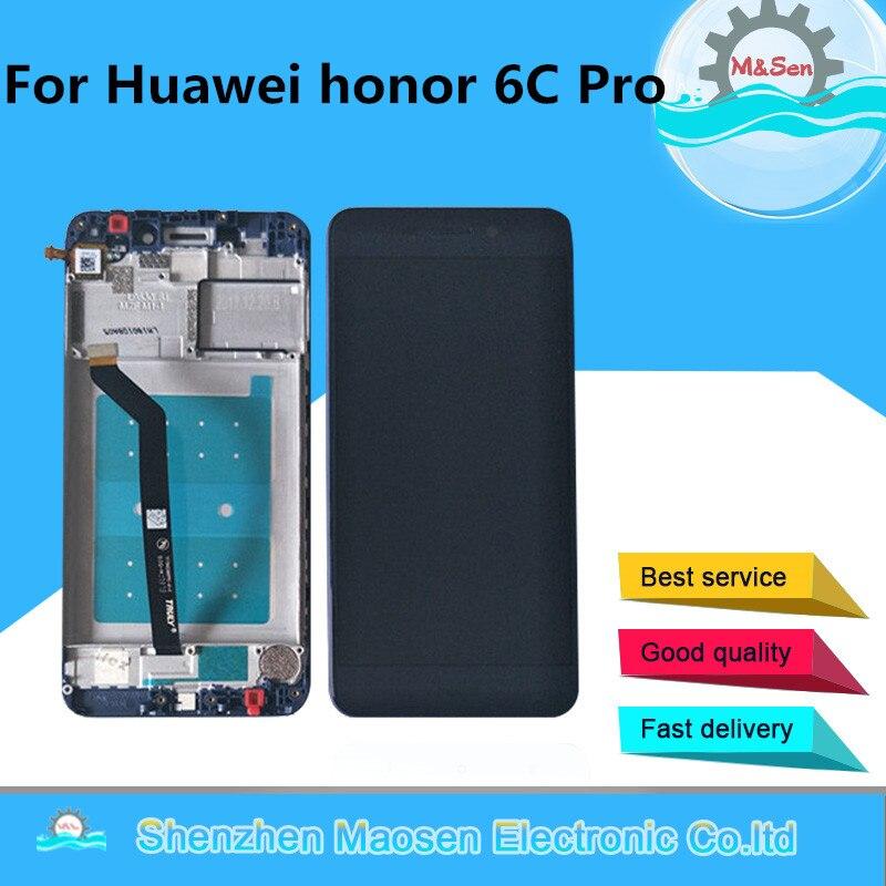 Оригинальный M & Sen для 5,2 huawei Honor 6C Pro ЖК-экран + сенсорная панель дигитайзер с рамкой Honor 6C Pro JMM-L22 дисплей