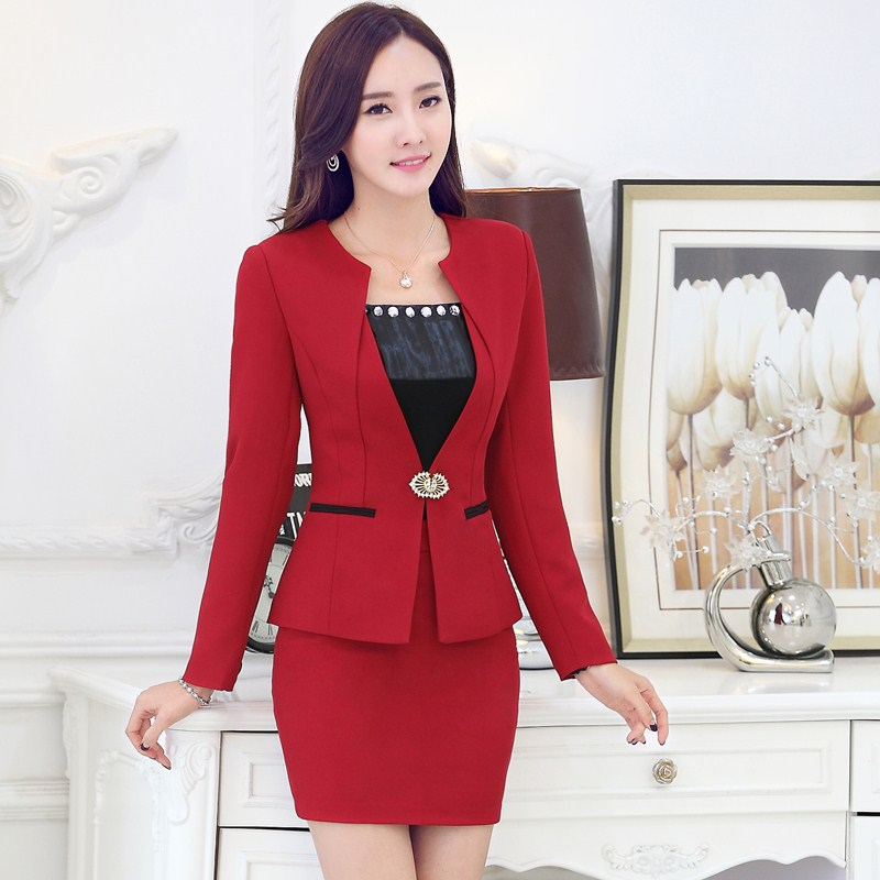 Women Business Skirt Suits Formal Promotion-Shop for Promotional ...