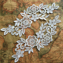 Garment accessory lace collar patch applique diy fabric for headband 20pcs/lot (10 pairs/lot)  TT53 цена 2017
