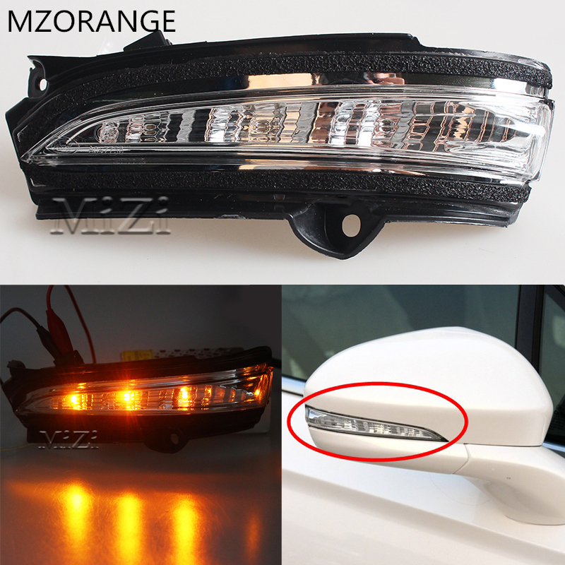 MZORANGE Rearview Mirror Turn Signal Light Left/Right Side Led warning Light For Ford Mondeo 2013 2014 2015 2016 Indicator for 2013 2014 year for ford raptor f150 led strip head light with full led turn signal light black color