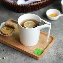 Neue Design Kreative Becher 330 ml Keramiktassen mit Teebeutel Halter Sonderschlitz Tasse Teebeutel Hält Becher Phantasie Geschenk Tee Trinker