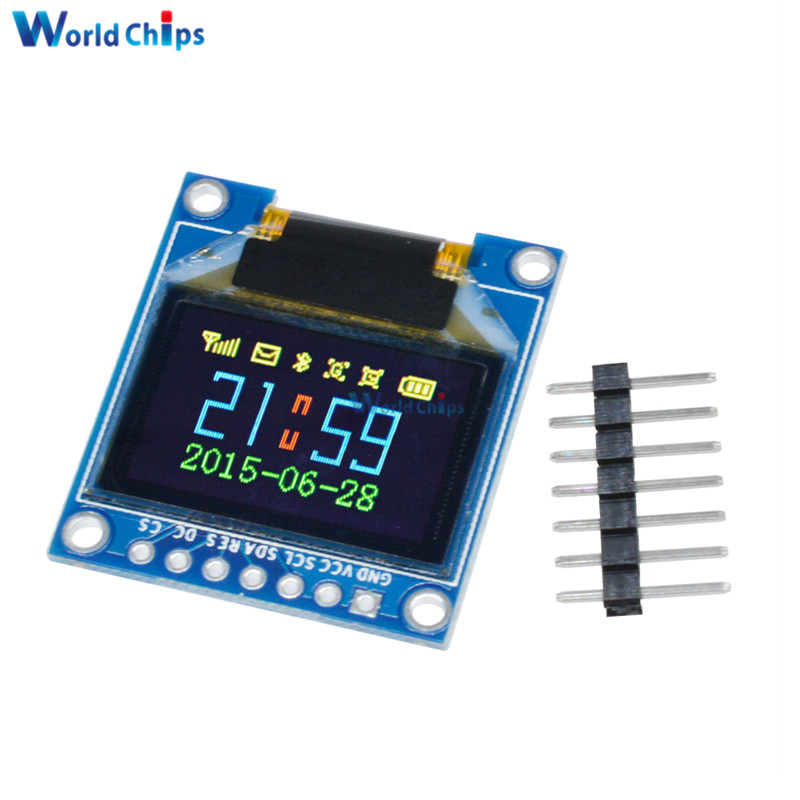 0.95 Inch Full Color OLED Display Module With 96x64 Resolution SPI Parallel Interface SSD1331 Controller 7PIN For Arduino DIY