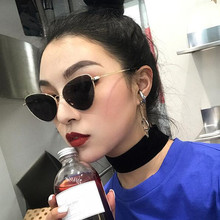 Fashion Red Cat Eye Sunglasses Women Clear Lens Sun Glasses For Metal Pink Yellow Female Mirror UV400