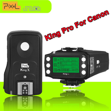 Pixel King Pro 2.4G E-TTL HSS 1/8000s Wireless Flash Trigger Kit Transmitter Transceiver For Canon 7D 550D 300D 100D DSLR Camera