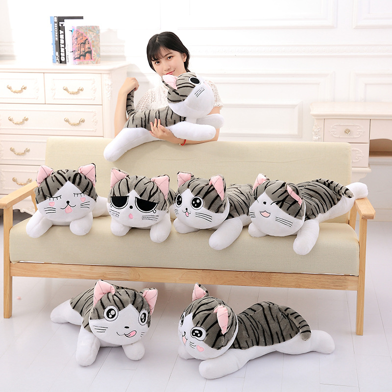 4 Styles 20-60cm Cat Plush Toys Chi Chi's Cat Stuffed Doll Soft Animal Dolls Cheese Cat Stuffed Toys Dolls Pillow For Kids Gifts