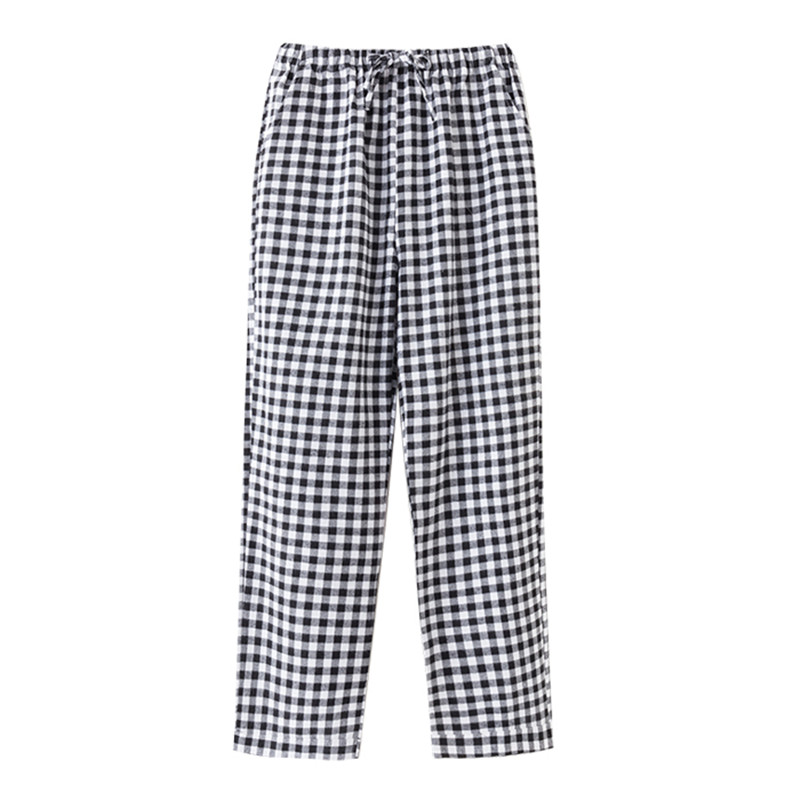 Women 's sleep pants Cotton flannel home pants trousers Plaid Sleep pants Women Sleep Bottoms