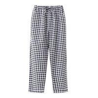 Women 's sleep pants Cotton flannel home pants trousers Plaid Sleep pants Women Sleep Bottoms