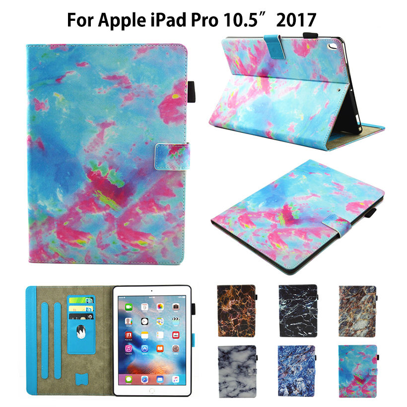 где купить Marble Pattern Cover for New iPad pro 10.5 Case Funda Tablet TPU PU Leather Folio Stand Shell for Apple iPad Pro 10.5 inches по лучшей цене