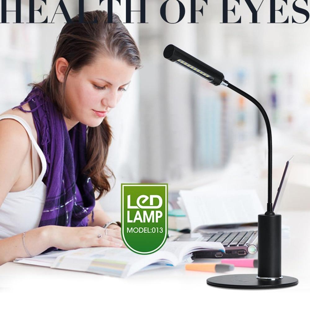 Lampe de bureau pliante Design LED lampe de Table interrupteur tactile luminosité gradation lumière bouton fortement poussoir variateur de lumière de bureau