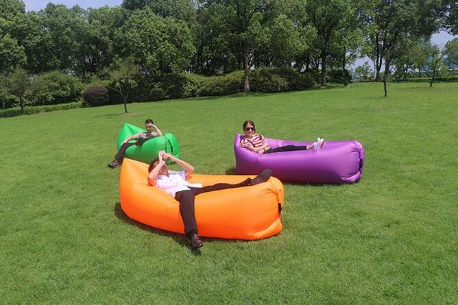 European Style Regional Style and Fabric Material inflatable air bean bag , orange self inflated instanly sofa beanbag identity and regional culture