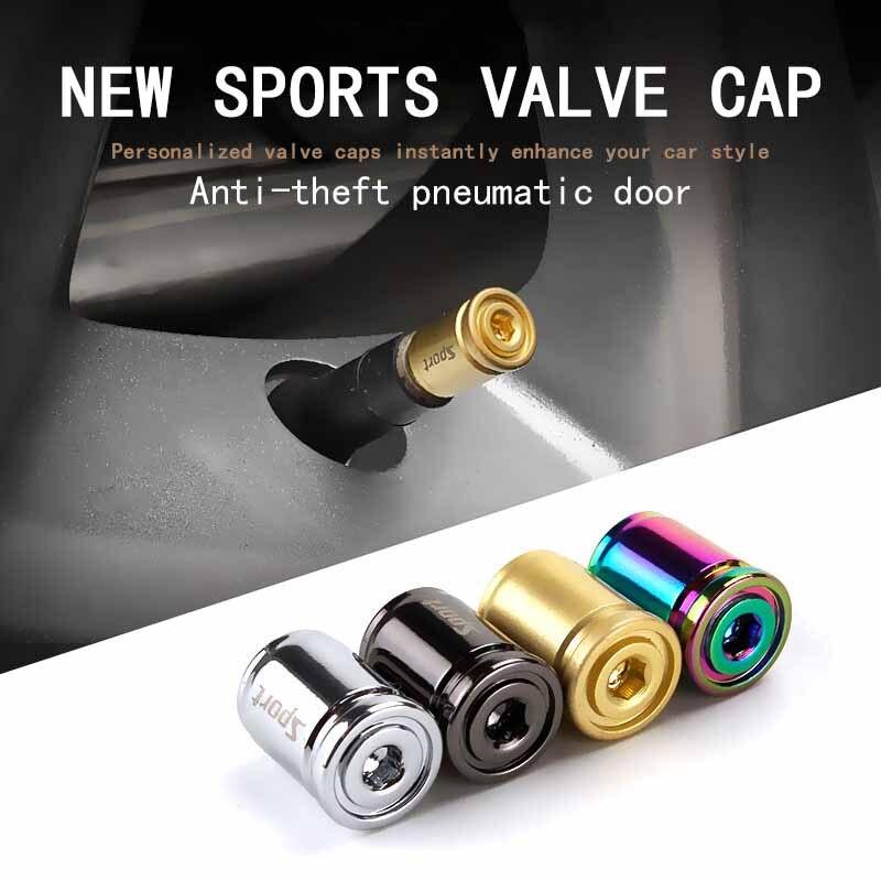 Anti-theft Car Tire Valve Cap For BMW E39 E60 Mitsubishi Nissan Qashqai X-Trail Citroen C4 C5 Alloy Sport Exterior Auto Air Caps