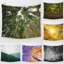 Homing forest nature impreso tapiz tapiz colgante de pared decoración arte de la pared tapices cortinas para el dormitorio al aire libre