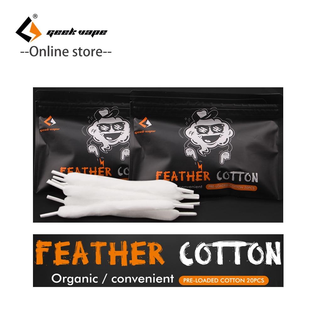 1pcs/Pack Original Geekvape Feather Cotton Vape Accessories Organic Cotton For RDA Rta RDTA Tank Vape Cotton Vs Cotton Bacon