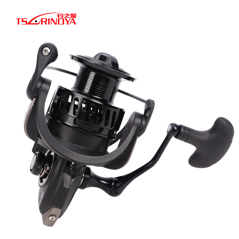 TSURINOYA FALCON 4000/5000 Spinning Fishing Reel 8+1BB 5.2:1 11kg Drag Power Saltwater Lure Fishing Reel Carretilhas De Pescar