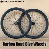 carbon disc road wheels 142*12 100*15 thru axle 700C 50mm clincher straight pull 6 bolts cyclocross road bike wheels