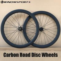 carbon disc road wheels 142*12 100*15 thru axle 700C 50mm clincher straight pull 6 bolts cyclocross road bike wheels