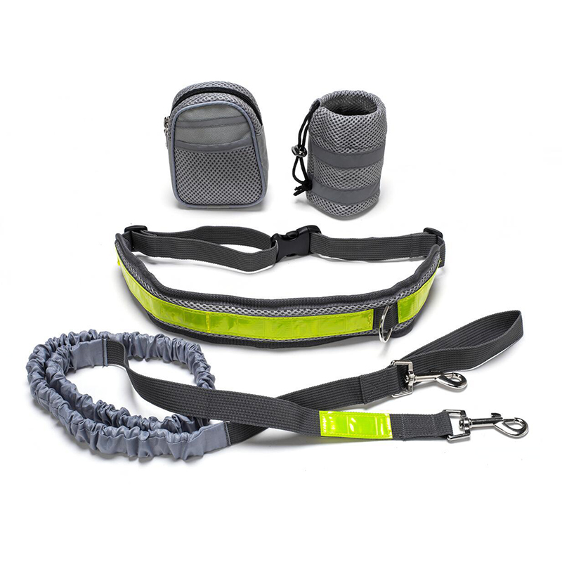 TAILUP Dog Leash Adjustable Connected to Waist With Bag Reflective Hands Free Walking Running Jogging