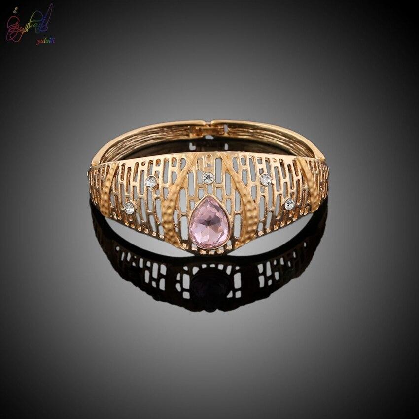 YULAILI populaire 2018 collier de mariage ensemble de bijoux de mariée pour les femmes élégant cadeau de fête accessoires de Costume de mode - 3