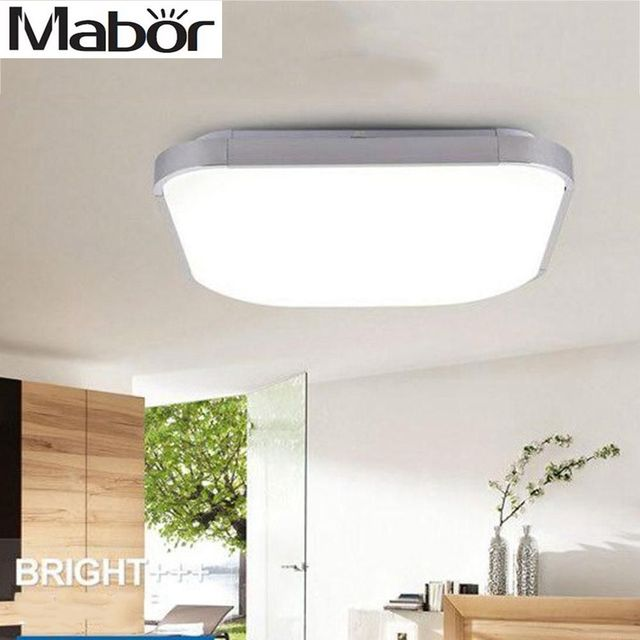 Mabor LED Panel Ceiling Light Bathroom Kitchen Flush Lamp 12W Pure White