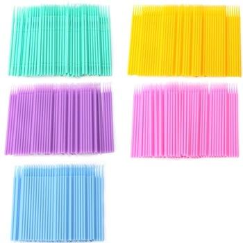 100Pcs Disposable Individual Lash Removing Micro Brush Eyelash Extension Tools New