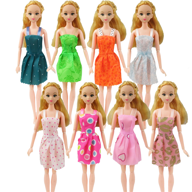 10 Pcs Mix Sorts Beautiful Handmade Party Dress Fashion Clothes For Barbie Doll Best Gift Kids Toys