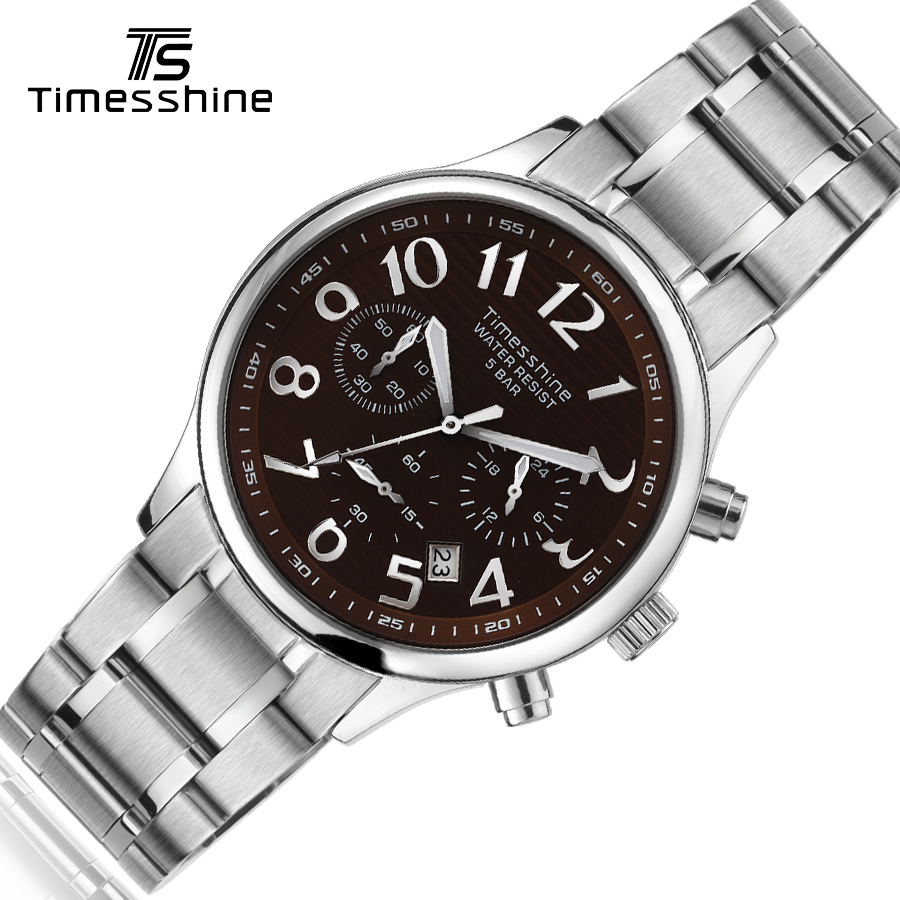 Timesshine watch men Stainless steel quartz watches waterproof Fashion/Business luxury brand famous 2017 wrist Watch for male design for men full steel watch quartz fashion hot sale relojes male watches fashions luxury round dial famous brand relogios