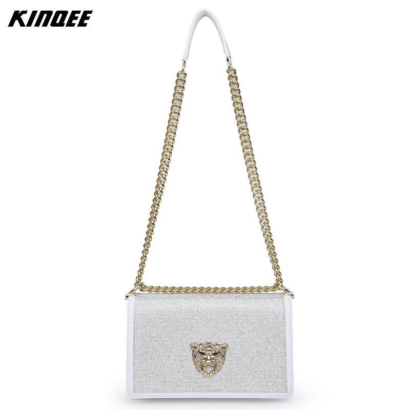 цены Luxury Handbags Women Bags Designer Cover Messenger Bags Ladies Chain Crossbody Bag Diamonds High Quality Genuine Leather