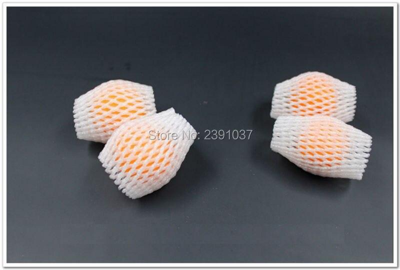 6cm * 5cm 2000 Uds espesar blanco EPE espuma de fresa manga de malla neto huevo neto fruta manga empaquetado por red material de precio al por mayor - 2