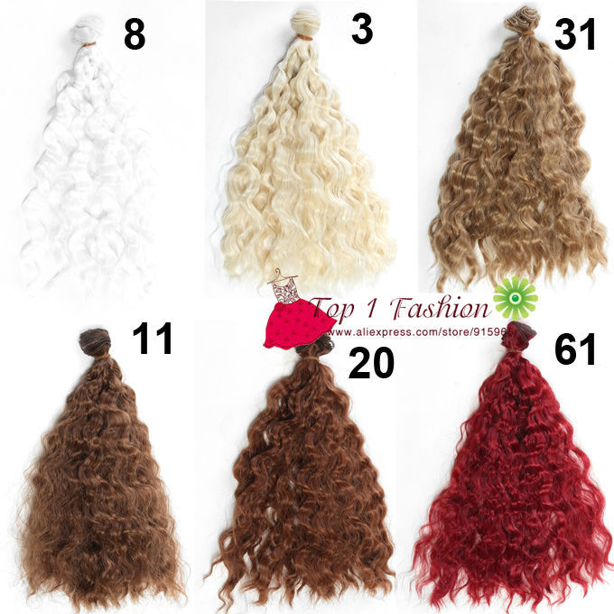 Thick Doll Hair 25cm*100CM Imitation Woollen Natural Color Doll Wigs Wavy Hair for OB SD for 1/3 1/4 BJD Doll Diy Accessory