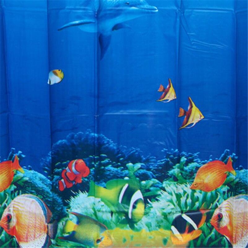 3d Dolphin Shower Curtain Print Bathroom Curtain 180*180cm Fabric Polyester  Curtain Waterproof Shower Curtain